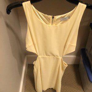 Tobi 'Cut it Out' yellow dress